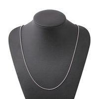 kadın için boncuklu kolye aksesuarları toptan satış-Paslanmaz Çelik Boncuklu Zincir Kolye Kadın Erkek Için Geometrik Gümüş Kaplama Klavikula Zincirleri Basit Kolye Takı Aksesuarları Toptan