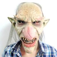 disfraz de zombie hombre al por mayor-Venta caliente Hombres Máscara de Látex Goblins Nariz Grande Máscara de Terror Creepy Costume Party Cosplay Props Máscara de miedo para Halloween Terror Zombie