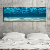 Wholesale ocean oil paint for sale - Group buy Blue Ocean Sea water Unframed Modular Picture Art Oil Painting Canvas Simple Decorate Print Frameless for Living Room Wall