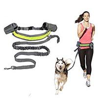 elastik şeritler toptan satış-Sıcak Satış Naylon Elastik Pet Köpek Tasma Kurşun Kayış Halat Bel Kemeri Koşu Şerit Halat Yürüyüş Koşu Için