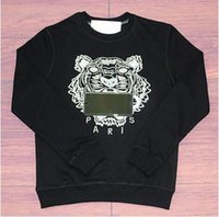 sudaderas marca tigre al por mayor-Nueva marca Tiger Head Hoodie diseñador bordado hombres mujeres sudaderas otoño invierno sudaderas con capucha unisex casual Streetwear Jogger chándal