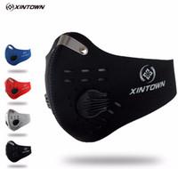 toz maskesi kirliliği toptan satış-XINTOWN Erkekler / Kadınlar Aktif Karbon Toz geçirmez Bisiklet Yüz Maskesi Anti-Kirlilik Bisiklet Bisiklet Açık Koşu maske yüz kalkanı CM2