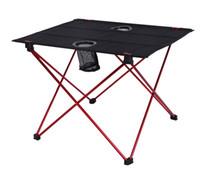Wholesale Folding Chairs Tables - Outdoor folding table and chair aluminum alloy portable table light double double Oxford camping barbecue picnic table.