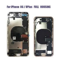 iphone chassis completo venda por atacado-Carcaça Completa Para Alta Qualidade iPhone 8 8G 8 plus mais X Tampa Traseira Da Bateria Completa Habitação Porta Chassis Meio Quadro