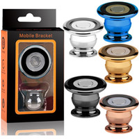 Wholesale magnets iphone online - Universal Aluminum Alloy Magnetic Car Mount Holder Degree Mobile Magnet bracket For iphone x Samsung android phone mp3 pc with box