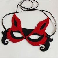 masques de renard sexy achat en gros de-Haute Qualité Halloween Mascarade Belle Promotion Sexy Vente Masque Partie Fox Forme Demi Visage Masque Masque Partie Mardi Gras Masque