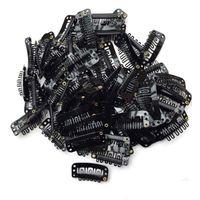 du geformte haarperücken groihandel-300PCS U-Form-Eisen-Schnellclip für Feder-Haar-Verlängerungen Perücke einschlag Schwarz Y511