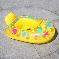 Wholesale baby water boat for sale - Group buy Opera Water Inflation Buoy Baby Small Yacht Water Boat Babys Swimming Ring Children Seat Ring Inflatable Circle qh ii