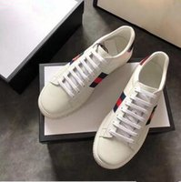 Wholesale Platform Trainers - white trainers sneakers platform women designer sneakers with top quality casual luxury brand female shoes with bee for sale size 35-40
