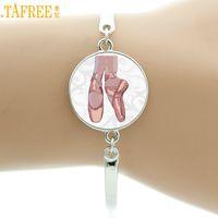 dancer bracelets NZ - TAFREE vintage Ballerina bracelet women elegant ballet dance dancing glass art bracelets fashion dancer jewelry gifts NS131