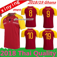 Wholesale thai soccer shirts free shipping - Wholesale Thai Quality 2018 2019 Ghana Soccer Jersey 18 19 Yellow red Uniforms ESSIEN JAYEW BABA A AYEW Football Shirts Free Shipping