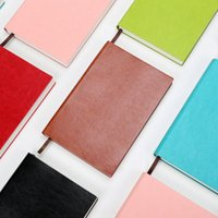 Wholesale Notebook Grid - A5 grid notebook 154 sheets 4mm grid Diary notebooks faux leather notepad book graph paper soft cover planner journal stationery