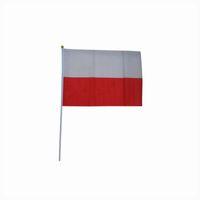 ingrosso bandiere dei paesi caldi-vendita calda bandiera di bandiera Polonia di 14 * 21 cm, bandiera di poliestere 170t di trasporto libero, bandierina d'ondeggiamento della mano della bandiera di paese