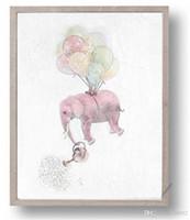 familienhaus dekor großhandel-Abstrakte Elefanten Hause Wandkunst Malerei High Definition Familie Decor Spray Gemälde Druck Wand Bilder Poster Kein Rahmen 5jc gg