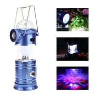 Wholesale family holiday party - Multifunctional LED Camping Lantern Flashing Stage Light With Bluetooth Speaker LED Portable Lanterns For Camping Hiking Family Party