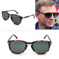 gafas se al por mayor-Gafas de sol Persol serie 714 diseñador italiano pliot estilo clásico gafas forma única de calidad superior UV400 protección se puede plegar estilo