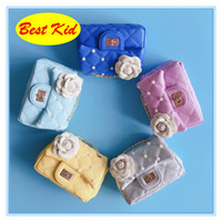 Wholesale kids mini purse - BestKid DHL Free Shipping! Kids Small Size Shoulder Bags Baby girls Mini Flower Bead Purse Childrens Brand new bags for Party INS bags BK044
