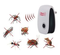 Wholesale Electronic Repeller Insects - Enhanced Version Electronic Cat Ultrasonic Anti Mosquito Insect Repeller Rat Mouse Cockroach Pest Reject Repellent EU US Plug