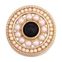 noosa perlen schnappen großhandel-Mode heiße Verkäufe 18cm NOOSA Chunks Druckknopf Schmuck Perle Sead Bead Blume Noosa Armband Druckknöpfe