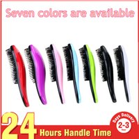 Wholesale red black hair styles - Seven Colors Are Available Shower Magic Hair Styling Salon Detangling Comb Hair Brush Comb Tangle Hair Care Homeuse