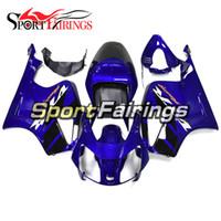 rc51 blanco al por mayor-Carenados de inyección completa para Honda VTR1000 RC51 SP1 SP2 00 01 02 03 04 05 06 ABS plástico motocicleta azul blanco calcomanías