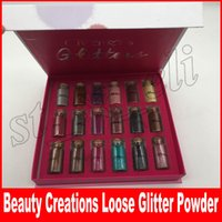 Wholesale wholesale loose glitter online - New Makeup Beauty Creations Multi Purpose Loose Glitter Powder Colors Gift Box eyeshadow DHL