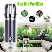 iyon araba hava toptan satış-Mini Araba Hava Temizleyici Hava Temizleyici Negatif Iyonlar Araba Hava Spreyi Ionizer Temizleyici Koku Eliminator Toz Duman Eliminator Ozon Oksijen Bar