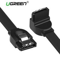 sabit sürücü asus toptan satış-Ugreen SATA Kablosu 3.0 Sabit Disk Sürücüsü SSD HDD Sata 3 Düz Sağ açılı Kablo Asus MSI Gigabyte Anakart