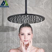 держатель для душа оптовых-Потолочная душевая насадка для ванной комнаты 12/16 дюйма Большой аксессуар для душа с ливневым дождем Верхний круглый душ из латуни