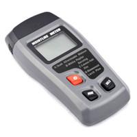 medidores de humedad para paredes al por mayor-Medidor de humedad de madera digital de dos pines 0-99.9% Probador de humedad de madera Detector de humedad de madera con pantalla LCD grande