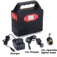ingrosso alimentazione di emergenza-100W 12V 24V Car Portable Solar Emergency Power Supply per campeggio esterna Generatore solare a LED con caricabatterie per auto