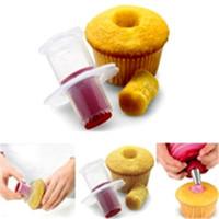 torta corer émbolo al por mayor-Útil 1 unid Kitchen Cupcake Cake Corer cortador del émbolo Pastelería decoración Divider molde creativo DIY envío gratis