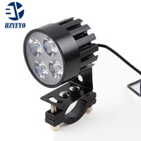 Wholesale Motorcycle Led Headlight Kits - HZYEYO 2pcs lot Electric Motor Bike Motorcycle 12W 4 LED Auxiliary Headlight Work Driving Fog Spot Night Safe Lamp Universal L-805