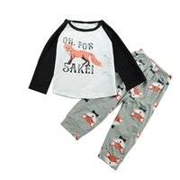 boys outfit leggings 2021 - Newborn Baby Boys Girls Outfits Animals Fox Top +Pants Leggings Children Clothing Toddler Long Sleeve Boutique Kid Clothes 0-2Y