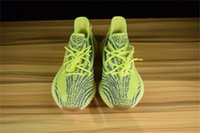 Wholesale Outdoor Fluorescent - Originals Fluorescent Green B37572 Boost 350 V2 Kanye West Blue Tint Beluga 2.0 Outdoor Running Shoes Sports Boosts Sneakers