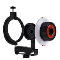 fokus zahnriemen großhandel-Follow Focus F0 mit verstellbarem Zahnkranz für Canon Nikon Sony DSLR Kamera für Follow Focus Shooting