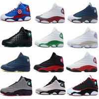 Wholesale mens sh - Wholesale Free Drop Shipping High Quality 13 13s Womens Mens Basketball Shoes Bred White Black Brown hologram Flints Grey Sports Sneakers sh