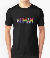 ingrosso t-shirt maniche corte-2018 Fashion Hot HUMAN T SHIRT LGBT PRIDE LESBIAN DIVERTENTE SCFI COMPLEANNO PRESENTE GIFT GAY RAINBOW Tee shirt