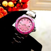 modelos rosados al por mayor-Pink Day Date Nuevo reloj automático de lujo de la marca de lujo de los hombres de moda de la manera comercial reloj submarino del reloj de cuarzo correa negra modelos clásicos
