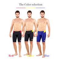 Wholesale boys swimming briefs - Hxby Brand Men Swimsuit Competition Boys Swimwear Briefs Mens Swimming Trunks For Bathing Swim Shorts Sharkskin Swimsuits Boxer