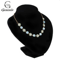 Wholesale elegant chunky necklaces - whole sale1 Pc Flower Crystal Pendant Collar Choker Statement Bib Chunky Rhinestone Elegant Charm Necklace Jewelry