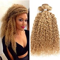 Wholesale hair for afro weave resale online - Kinky Curly Hair Weaves Brazilian Pure Color Human Hair Bundles Afro Kinky Curly Hair Extensions For Black woman Tangle Free