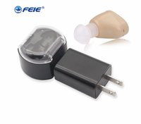 Wholesale Hearing Aid Voice Amplifier - 2018 Mini Portable Rechargeable Hearing Aid for Deaf S-219 Loundly Voice Adjustable Amplifier for Ear Care Tools Hottest sale