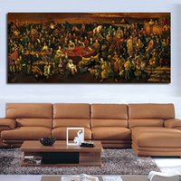 рамки для картин оптовых-Обсуждение Божественной комедии с Данте Стена Картинки для гостиной Холст Арт Декорация Современная Без рамки