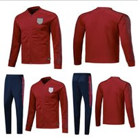 Wholesale usa suits - 2018 19 World Cup American Soccer JACKET SET 2018 19 American DEMPSEY PULISIC Football TRACKSUIT Training suit Buy 3 sets of free DHL to USA