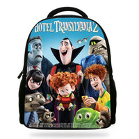 мультяшные девочки  оптовых-2018 New Cartoon Movie Hotel Transyania 2 Book Bags For Children Drakula/Denis Character Backpack For Kids School Boys Girls