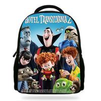 çocuk kitapları toptan satış-Karikatür Film Otel Transyania 2 Çocuklar Için Kitap Çanta Drakula / Denis Karakter Sırt Çantası Çocuklar Okul Erkek Kız Için