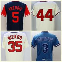 ingrosso freddie freeman grigio jersey-Maglie da baseball economiche degli uomini del 1974 Freddie Freeman 29 John Smoltz 3 Dale Murphy White Grey