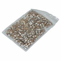 sırt kristalleri ss16 toptan satış-Yeni Fiyatları Ile 1440 adet / paket SS16 Kristal Tutkal Flatback M-foild Olmayan Düzeltme Kristal Cam Taklidi Için Giysileri