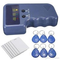 rfid id karten großhandel-Handheld 125Khz RFID ID Kartenleser / -schreiber + 6 beschreibbare Tags + 6 Karten ¥ 32.00
